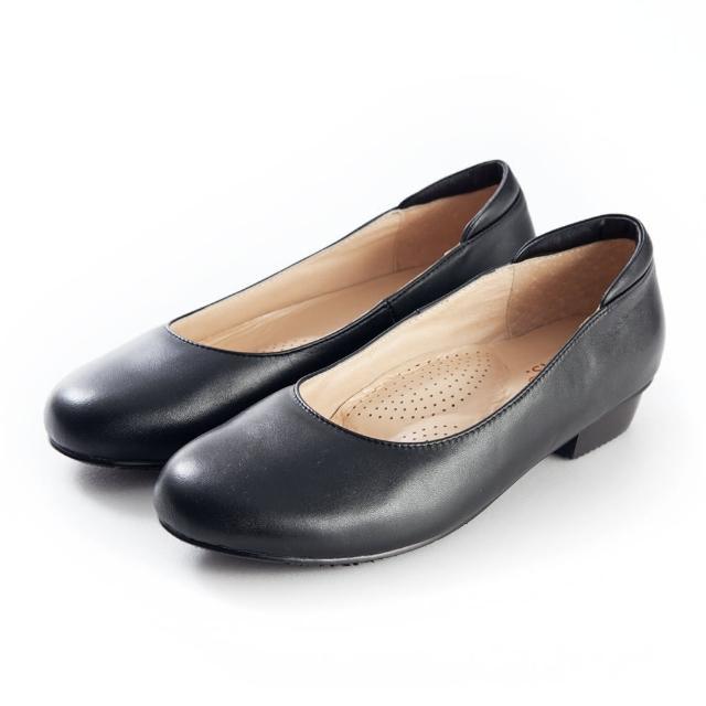 【G.Ms.】小資X麻吉-MIT手工實搭全真皮平底鞋-A款(黑色)