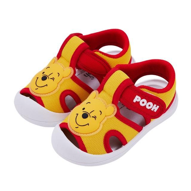 【Disney 迪士尼】迪士尼童鞋 小熊維尼 立體造型護趾涼鞋-黃(MIT台灣在地工廠製造)