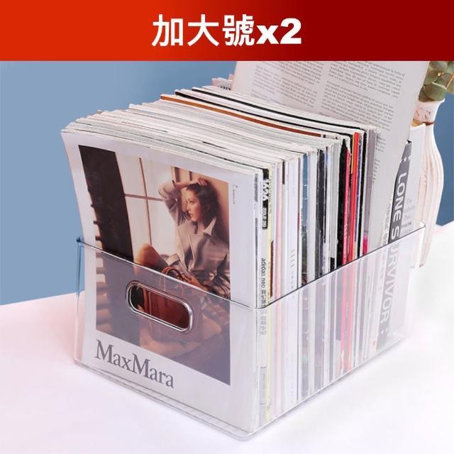 【Dagebeno荷生活】加大款桌面透明收納盒(加大號2個)