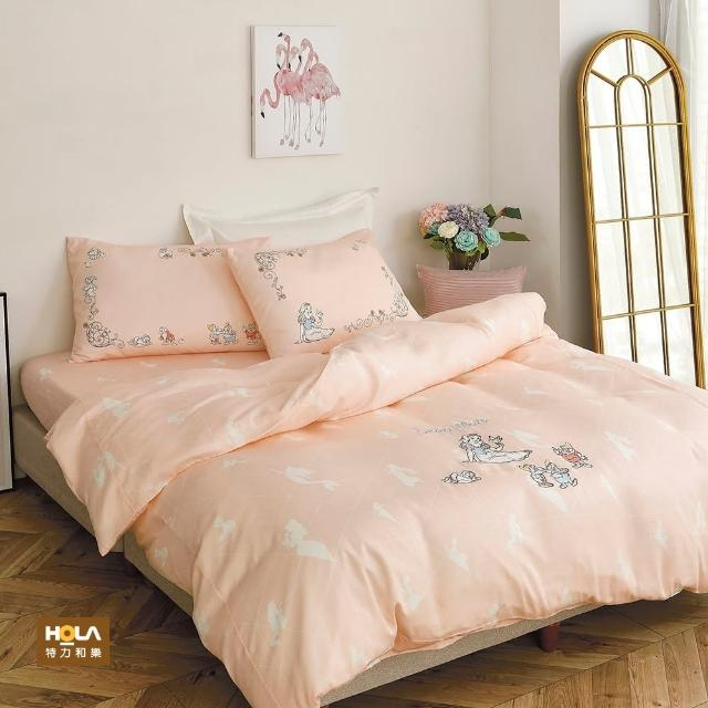 【HOLA】迪士尼系列公主天絲刺繡床被四件組雙人-白雪公主