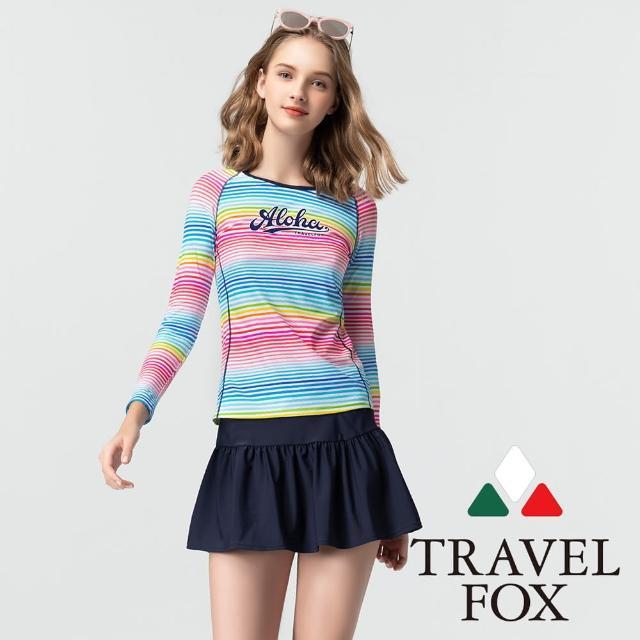 【Summer Love 夏之戀】TRAVEL FOX泳衣 大女衝浪裝二件式-褲連裙(C21721)