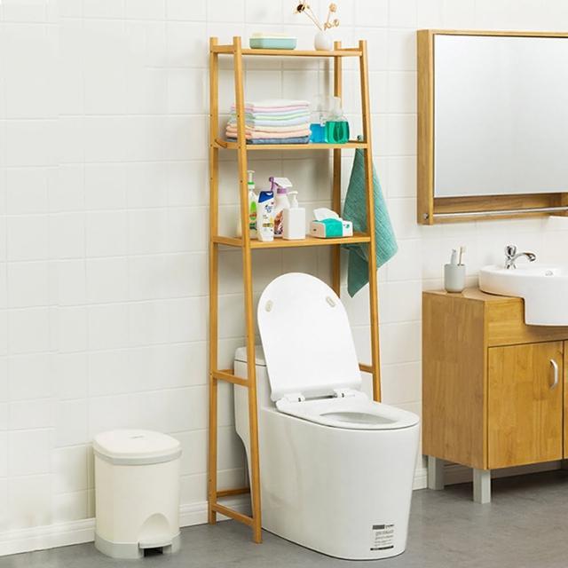 【HappyLife】楠竹多功能馬桶 三層置物架 Y10131(馬桶架 衛浴收納 浴室收納架 收納層架 加高收納)