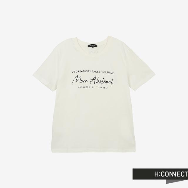【H:CONNECT】韓國品牌 男裝 -圓領英文字樣T-Shirt(白色)