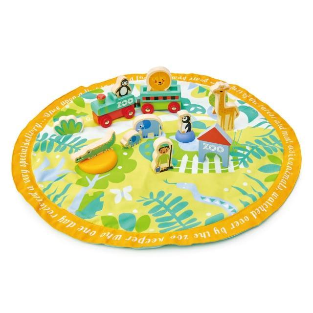 【Tender Leaf Toys】野生動物園故事組(積木遊戲墊組合)