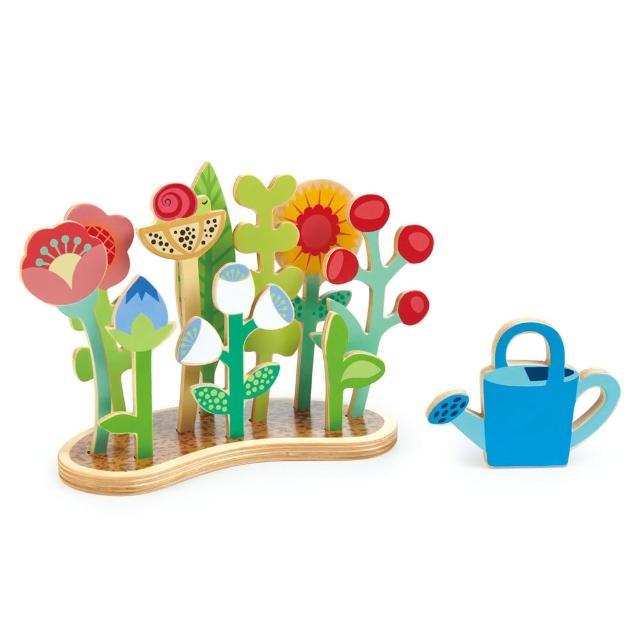 【Tender Leaf Toys】繽紛小花園(趣味立體木拼圖)