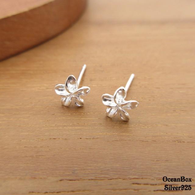 【海洋盒子】小巧可愛花朵925純銀耳環(925純銀耳環.貼耳耳環)