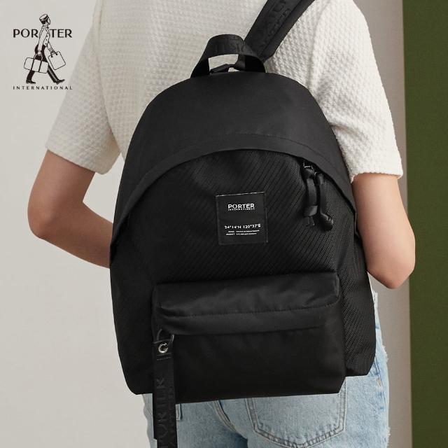 【PORTER INTERNATIONAL】CAPI簡約實用後背包-S(黑)