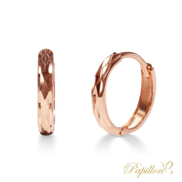 【法蝶珠寶】14K金簡約款牛車耳環(小資族/輕珠寶推薦)