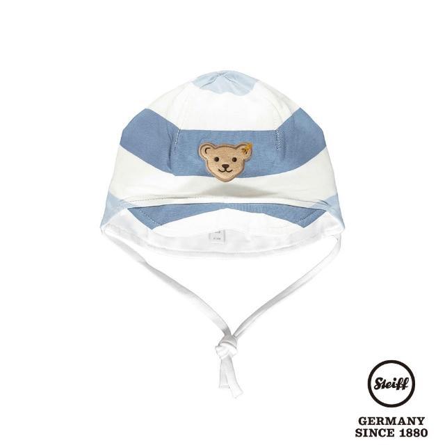 【STEIFF】熊頭童裝 條紋寶寶帽(配件)