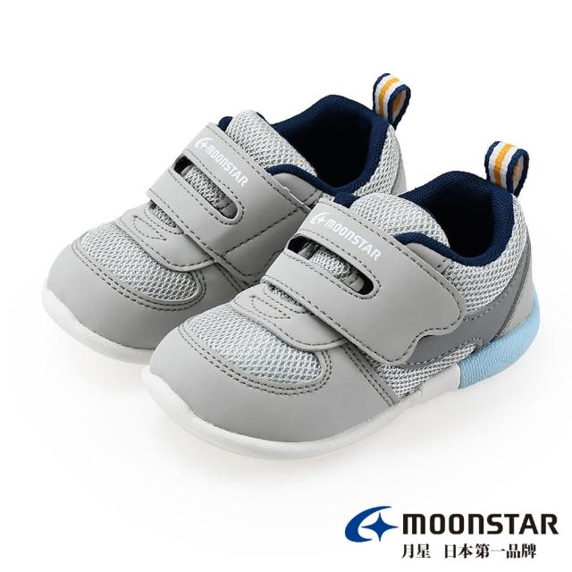 【MOONSTAR 月星】MSCN系列-3E寬楦寶寶鞋(MSCNB2487灰13~14CM)