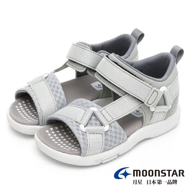 【MOONSTAR 月星】HI!!系列十大機能速乾涼鞋(MSC22817灰15~21CM)