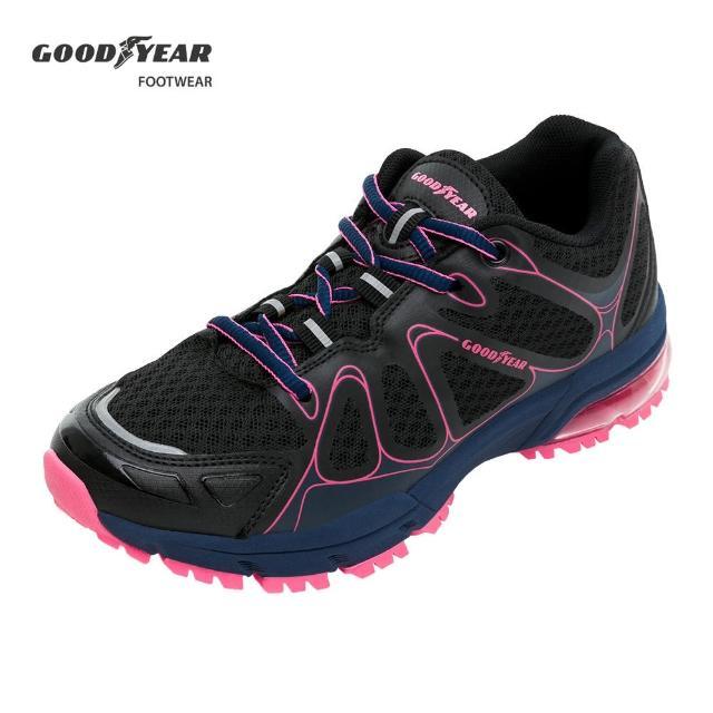 【GOODYEAR 固特異】緩震氣墊慢跑鞋 女款 越野 路跑 健身 透氣 支撐 錦霞粉(GAWR92810)