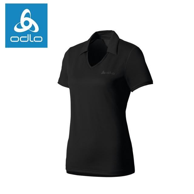 【ODLO】女銀離子短袖POLO衫 221311-15000黑