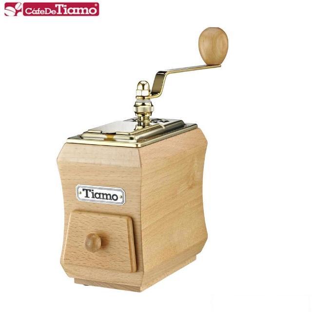 【Tiamo】NO.1 頂級手搖磨豆機-鈦金款 CNC雕刻鍛造(HG6124)