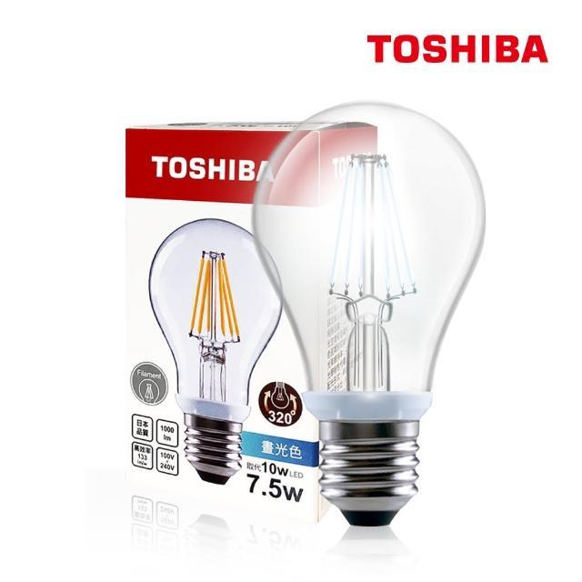 【TOSHIBA 東芝】7.5W LED 仿古燈絲燈泡(白光/黃光-5入)