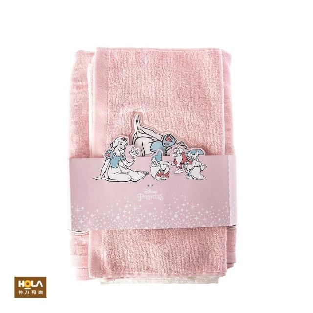 【HOLA】迪士尼系列公主印花毛巾浴巾組-白雪公主