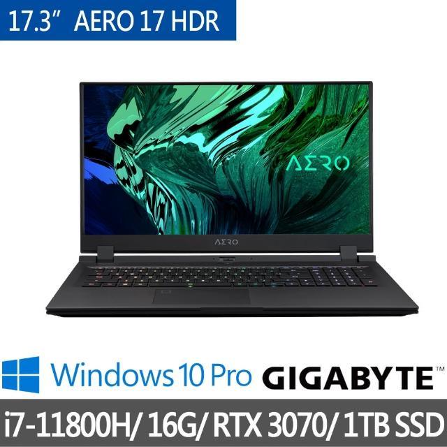 【GIGABYTE 技嘉】★預購★AERO 17 HDR XD17.3吋 創作筆記型電腦(i7-11800H/RTX3070/16G/1TB SSD/Win10P)