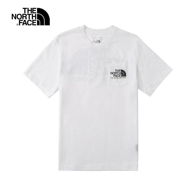 【The North Face】The North Face北面男款白色胸前口袋背部印花短袖T恤|4U9LFN4