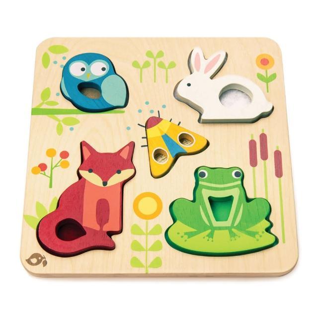 【Tender Leaf Toys】動物森林益智拼圖(左右腦啟蒙學習教具)
