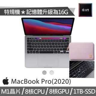 【Matter Lab保護袋+鍵盤膜】特規機 MacBook Pro 13.3吋 M1晶片 8核心CPU 與 8核心GPU(16G/1TB SSD)