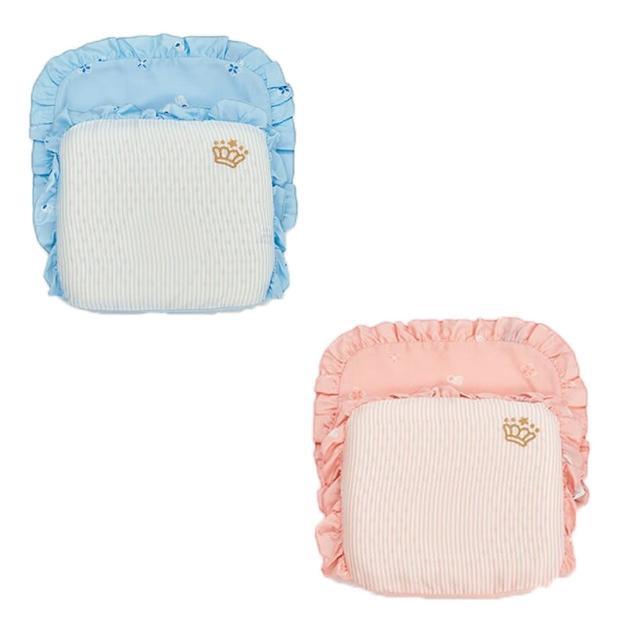 【麗嬰房】les enphants 膠原蛋白天絲護頭枕(藍色/粉色)