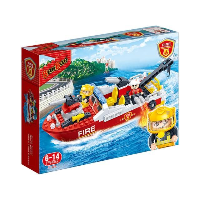 【BanBao 邦寶積木】新消防系列 消防救生艇
