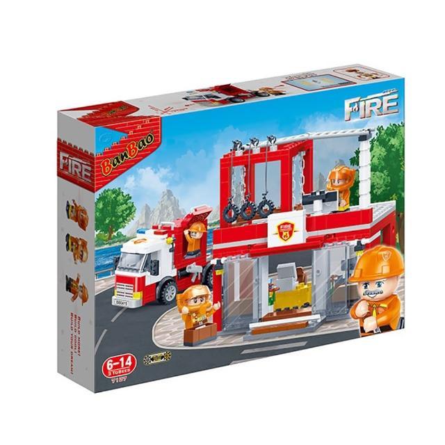 【BanBao 邦寶積木】新消防系列 消防分部 迴力