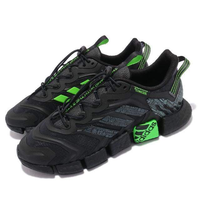 【adidas 愛迪達】慢跑鞋 Climacool Vento 運動 男鞋 愛迪達 輕量 透氣 舒適 避震 路跑 黑 綠(GY3088)