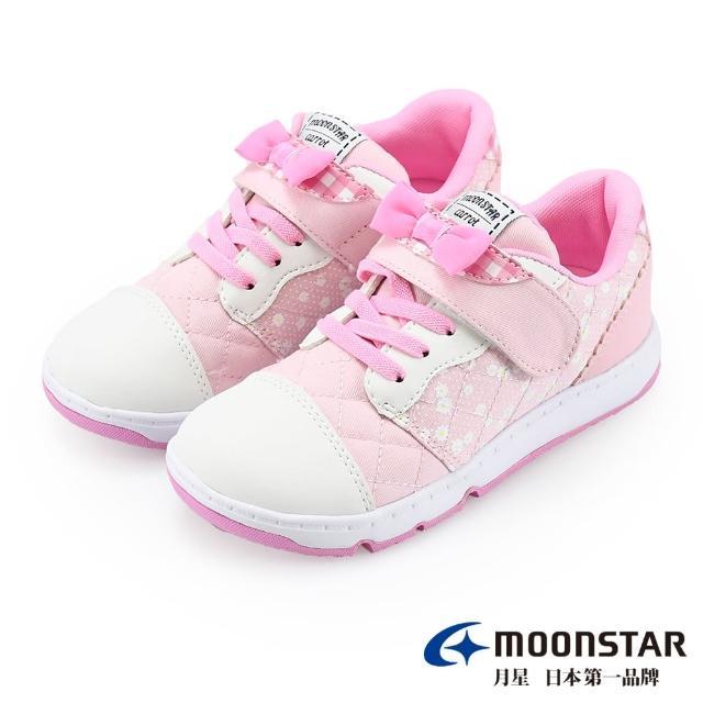 【MOONSTAR 月星】WAGAMAMA經典系列-2E寬楦童鞋(CRC22824粉15~19CM)