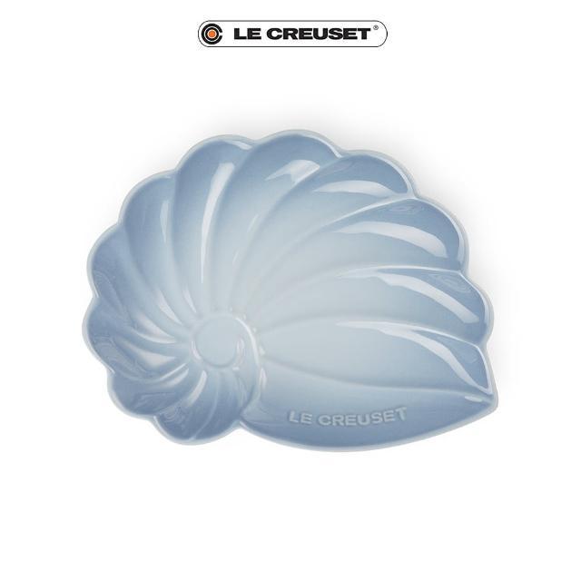 【Le Creuset】瓷器海螺貝殼盤-大(海岸藍)