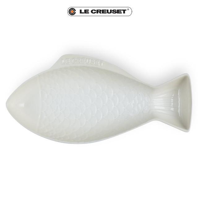【Le Creuset】瓷器鮮魚盤-大(蛋白霜)