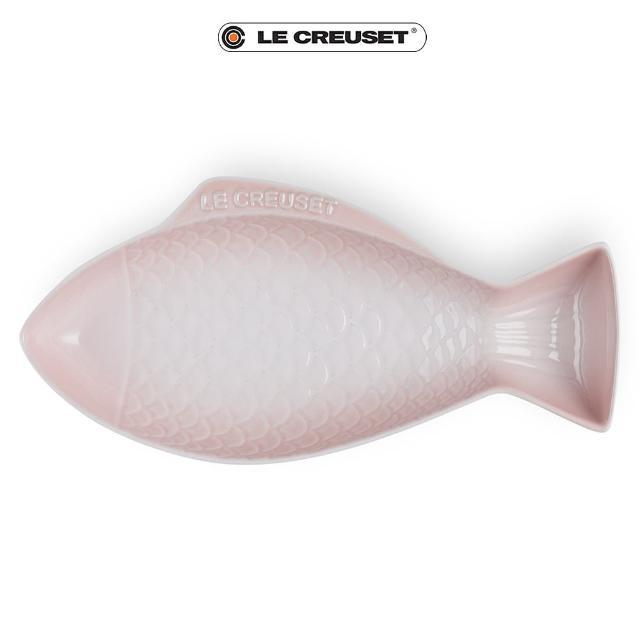 【Le Creuset】瓷器鮮魚盤-大(貝殼粉)