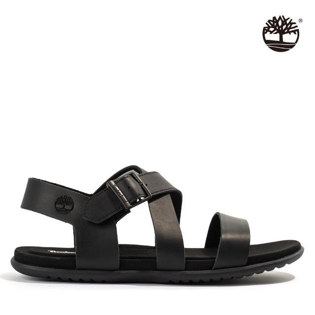 【Timberland】男款黑色扣環涼鞋(A42HH015)