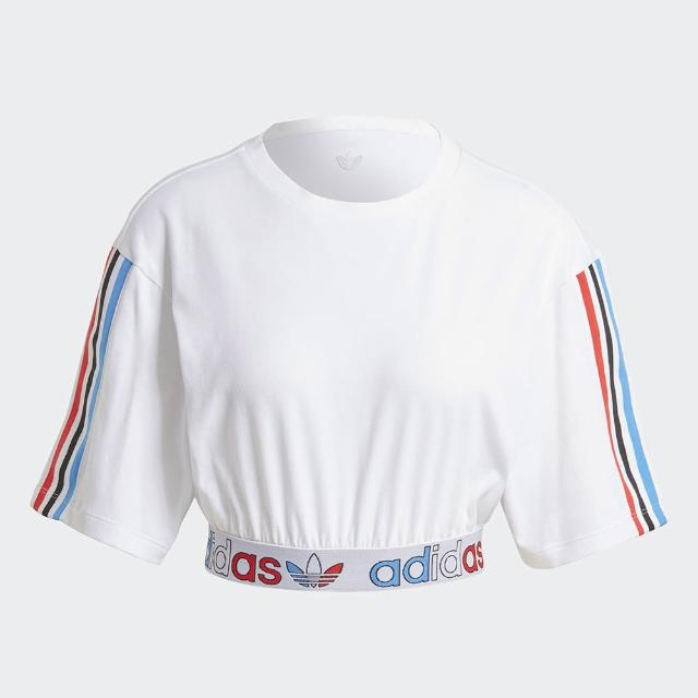 【adidas 愛迪達】ADICOLOR 短袖上衣 女(GN6979)