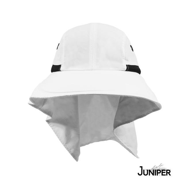 【Juniper 朱尼博】抗UV大帽眉披風休閒帽 MJ7213B(帽子/遮陽帽/防曬帽/後蓋片)