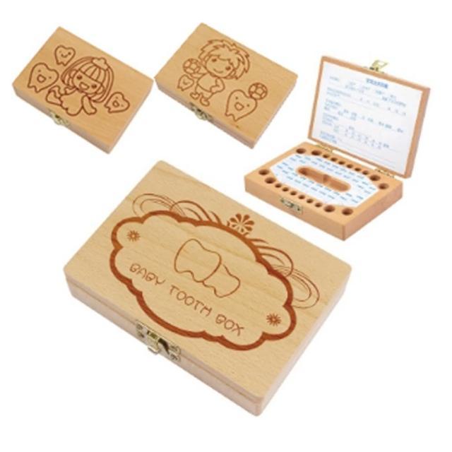【橘魔法】木質雕刻乳牙盒(實木手工 牙胎毛保存盒 胎毛盒 禮盒)