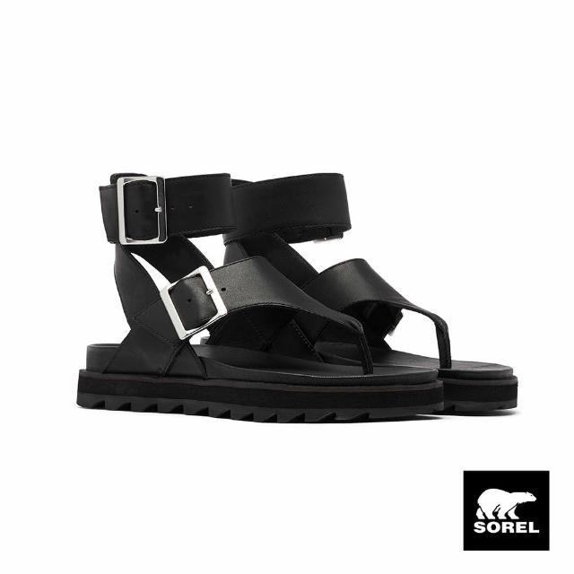 【SOREL】女款城市漫遊系列個性涼鞋(黑色)