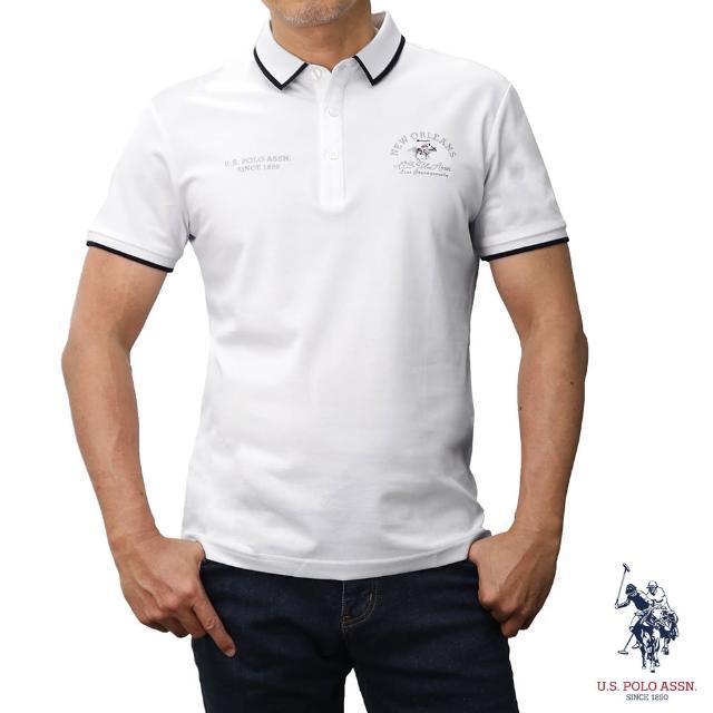【U.S. POLO ASSN.】NEW ORLEANS短袖POLO衫-純白色(經典LOGO)