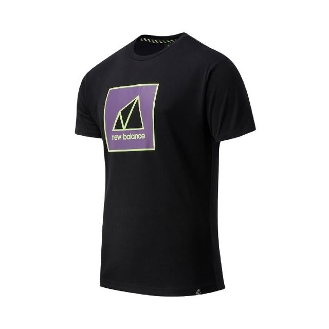 【NEW BALANCE】T恤 NB Outdoor Logo Tee 男款 紐巴倫 戶外運動 厚磅 穿搭 黑 紫(AMT11585BK)