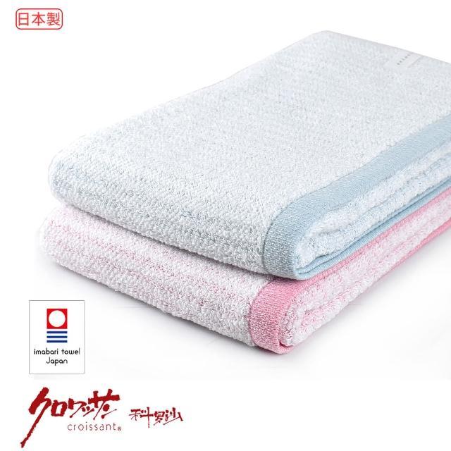 【Croissant 科羅沙】日本今治中空直紋浴巾(今治認證 日本製 中空紗技術更吸水)