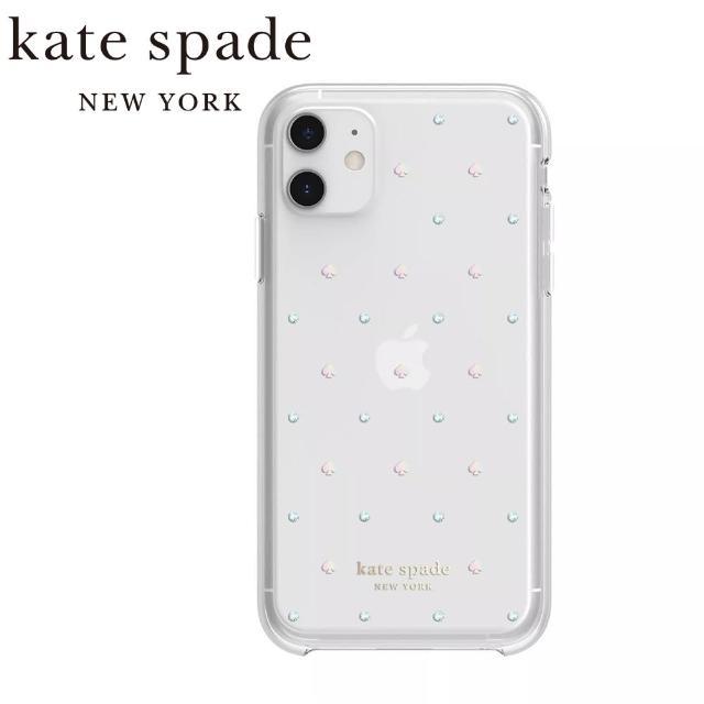 【KATE SPADE】iPhone 11 6.1吋 手機保護殼/套(霓虹黑桃+彩鑽)