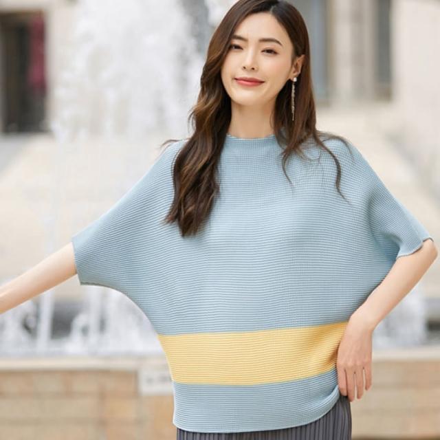 【羽生摺衣】i摺衣-配色豆腐摺上衣(共二色)