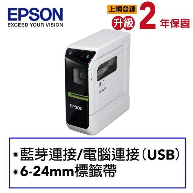 【MOMO獨家組合】贈三卷標籤帶【EPSON】LW-600P 智慧型手寫標籤印表機(內附原廠變壓器)