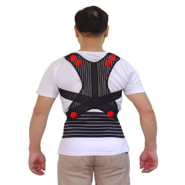 【菁炭元素】鍺+磁能 挺立開肩護腰帶 1件組(知名電視節目推薦)