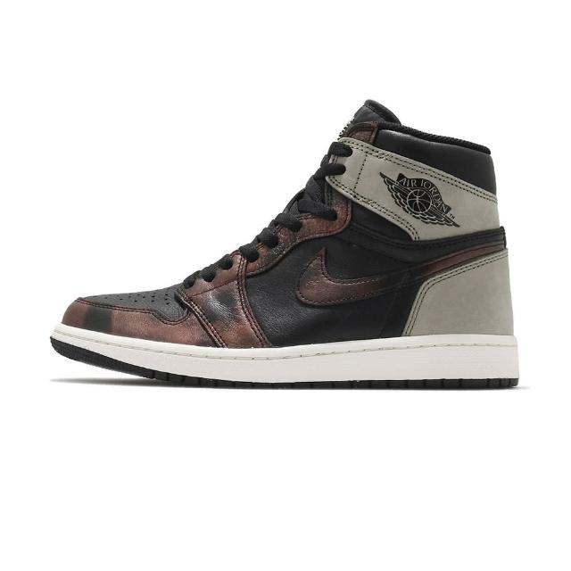 "【NIKE 耐吉】Air Jordan 1 Retro ""Patina"" 男 黑棕 高筒 經典 休閒鞋 555088-033"