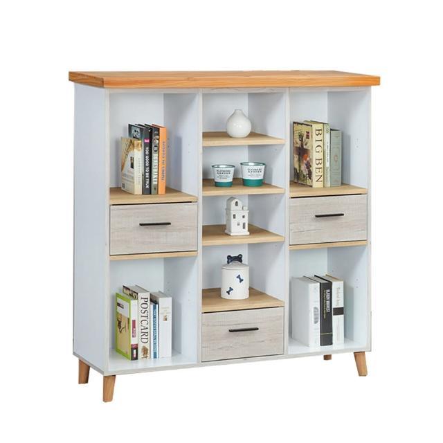 【BODEN】安妮塔3.9尺開放式書櫃/多格置物收納櫃/展示櫃