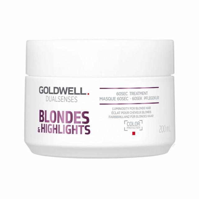 【GOLDWELL 歌薇】光纖60秒髮膜-矯色專用-200ml-漂淺、挑染、自然金髮、灰白髮適用(平輸商品)