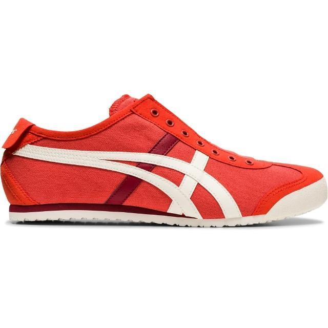 【Onitsuka Tiger】鬼塚虎 官方旗艦店 MEXICO 66 SLIP-ON 休閒鞋 紅色(1183A360-601)