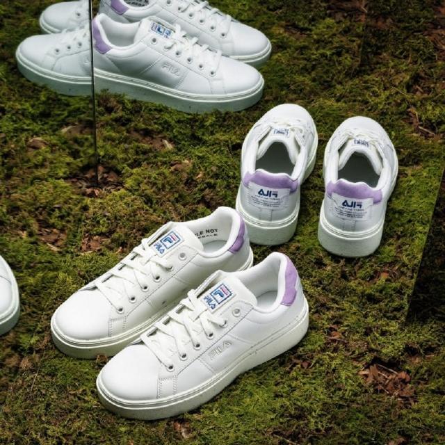 【FILA】男女鞋 小白鞋 滑板鞋 運動鞋 #Back To Nature 復古運動鞋-白紫(4-C127V-151)