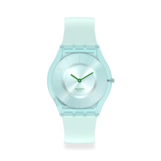 SWATCH【SWATCH】SKIN超薄系列手錶SWEET MINT薄荷綠(34mm)
